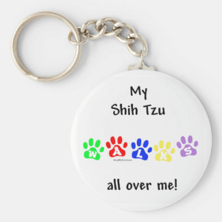Shih Tzu Walks All Over You - Keychain