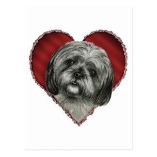 Shih Tzu with Heart Postcard