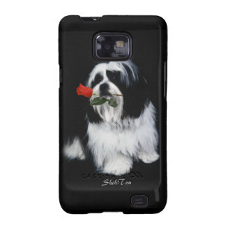 Shih Tzu With Rose Samsung Galaxy S2 Covers