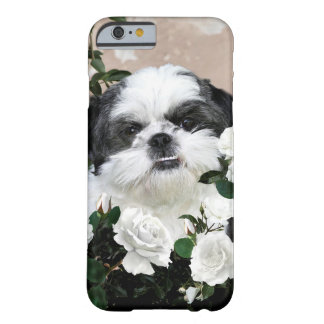 Shih Tzu with roses Barely There iPhone 6 Case