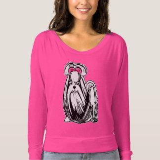 Shih Tzu Women's Bella Flowy Off Shoulder Shirt