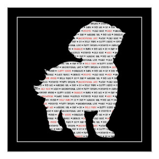 Shih Tzu Word Art Poster