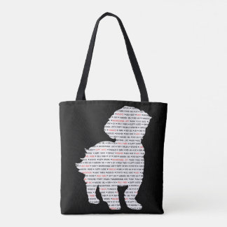 Shih Tzu Word Art Tote Bag