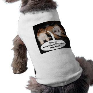 Shih Tzu y dogo inglés Puppys Playera Sin Mangas Para Perro