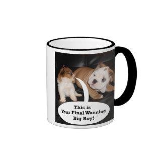 Shih Tzu y dogo inglés Puppys Taza De Dos Colores