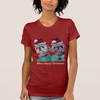 Shih Tzues Shih Two Christmas Womans T-shirt