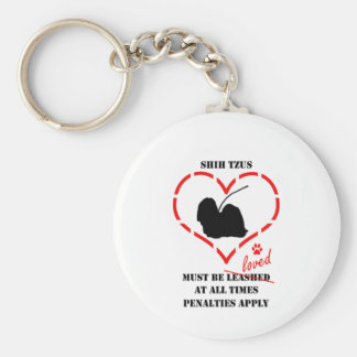 Shih Tzus Must Be Loved Keychain