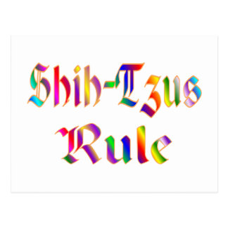 SHIH-TZUS RULE POSTCARD