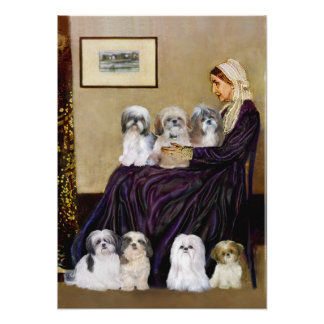 Shih Tzus (seven) -  Whistlers Mother Poster