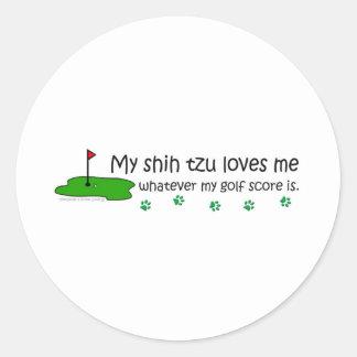 ShihTzu Round Sticker