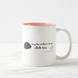 ShihTzuBlkBrother Two-Tone Coffee Mug