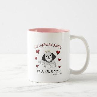 ShihTzuGrey Two-Tone Coffee Mug