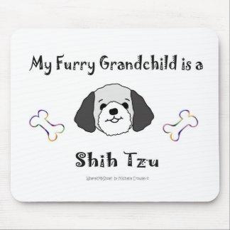 ShihTzuGreyWhite Mouse Pad