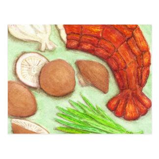 Shiitake & Lobster Postcard