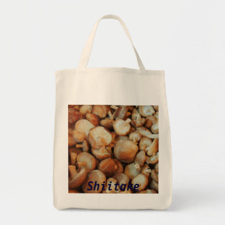 Shiitake Mushrooms Grocery Tote Bag