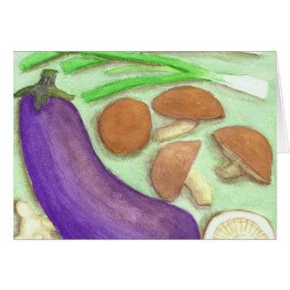 Shiitake & Veggies Greeting Card