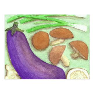 Shiitake & Veggies Postcard