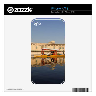 Shikara with tourists in Dal Lake iPhone 4 Decal