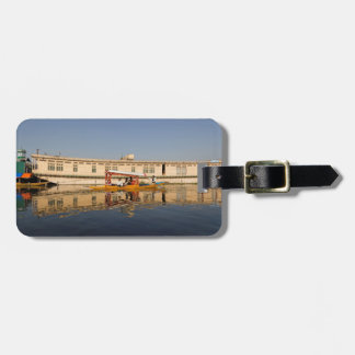 Shikara with tourists in Dal Lake Travel Bag Tag