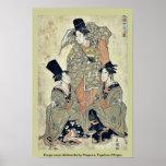 Shikisanba del onna de Furyu por Utagawa, Toyokuni Posters