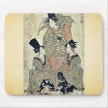 Shikisanba del onna de Furyu por Utagawa, Toyokuni Alfombrillas De Raton