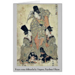 Shikisanba del onna de Furyu por Utagawa, Toyokuni Tarjetas
