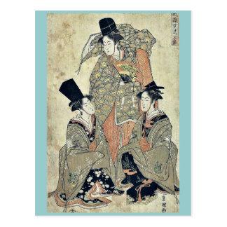 Shikisanba del onna de Furyu por Utagawa, Toyokuni Tarjeta Postal