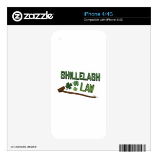 Shillelagh Law Decal For iPhone 4