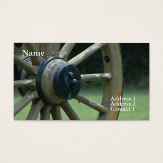 Shiloh Cannon Wheel Business Card