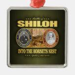 Shiloh (FH2) Adorno Navideño Cuadrado De Metal