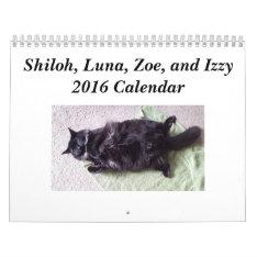 Shiloh, Luna, Zoe, And Izzy 2016 Calendar at Zazzle