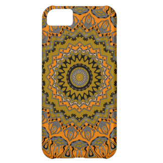 Shiloh Orange and Gray Kaleidoscope Cover For iPhone 5C