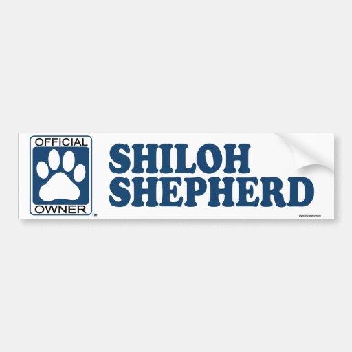SHILOH SHEPHERD_blue Bumper Sticker