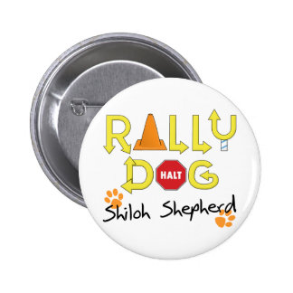 Shiloh Shepherd Rally Dog 2 Inch Round Button
