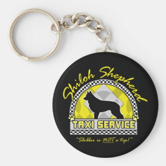 Shiloh Shepherd Taxi Service Basic Round Button Keychain