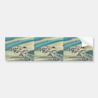 Shimada por Ando, Hiroshige Ukiyoe Pegatina Para Auto