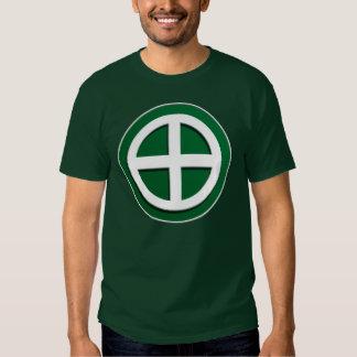 Shimazu Clan Mon - White/Green Field Shirt