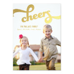 Shimmer Cheers Holiday Photo Cards