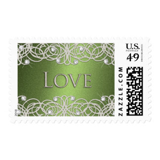 Shimmer Color with Lace Stamps
