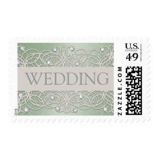 Shimmer Color with Lace Postage Stamps