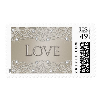 Shimmer Color with Lace Postage