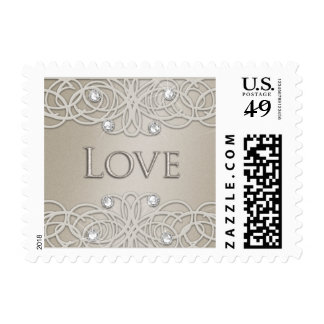 Shimmer Color with Lace Stamp