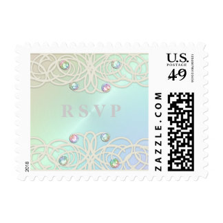 Shimmer Color with Lace RSVP Stamp
