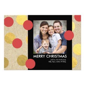 Shimmer Dots Christmas Holiday Photo Card