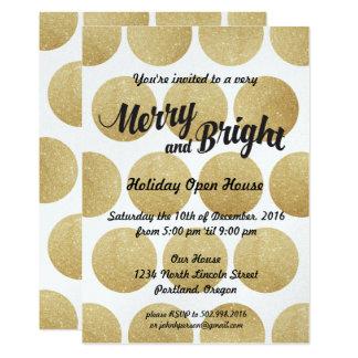 Shimmer Glitter Dots Holiday Party Invitation