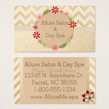 Professional Business Shimmer Gold Business Cards