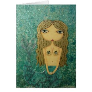 """Shimmer II"" 5 x 7 inch Mermaid Greeting Card! Card"