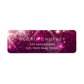 Shimmer Pink Glitter Sparkles Trendy Look Label