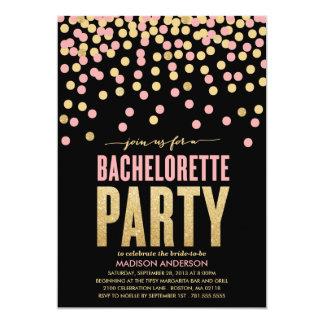 Glitter Bachelorette Party Invitations & Announcements | Zazzle