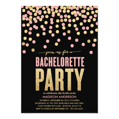 shimmer & shine | bachelorette party invitation | zazzle, Party invitations